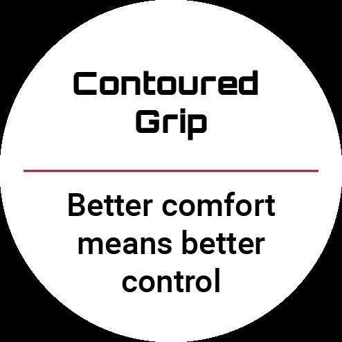 Contoured grip text